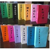 Bolsas De Papel Lisas Golosineras Souvenir V/colores!! X50u