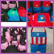 Bolsitas De Cumpleaños Superman, Batman, Hombre Araña Y Mas