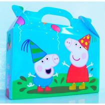 Cajita Bolsita Peppa Pig Souvenirs Infantiles Pack X100