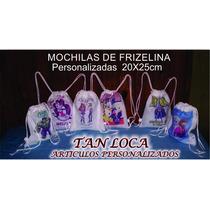 Mochilas De Frizelina Personalizadas Medida 20x25