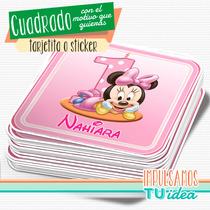 Minnie Bebé - Topper Cuadrado Para Imprimir