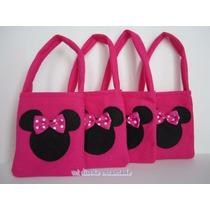 Bolsitas Cumpleaños Tela Mickey Minnie Princesas
