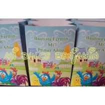 Bolsita Golosinera Personalizada Pack X 10 Gallina Pintadita