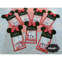 Golosineros De Mickey Y Minnie Mouse Bolsas Transparentes!
