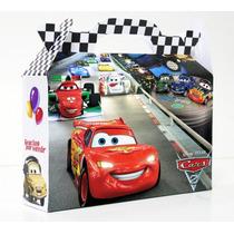 Cajita Golosinera Cars Pack X90 Valijitas Cumpleaños