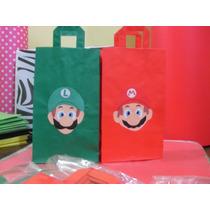 Bolsitas De Papel Para Cumpleaños Mario Bros Y Luiggi