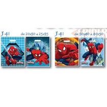 Bolsas Plástico Riñón Spiderman Ideal Cumpleaños 20x30 (x50)