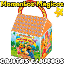 10 Cajita Souvenir Winnie Pooh Bolsita Golosinera + 7 Juegos