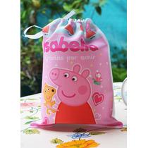 10 Bolsitas Estampadas Personalizadas Souvenirs Peppa Pig