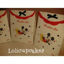 Bolsitas Souvenirs Personalizados Mickey Minie Candy Sticker