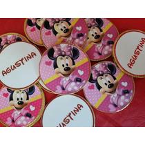 Golosinas Personalizadas Candy Bar Minnie Mario 20 Nenes