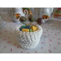 Souvenir Canastita Golosinero - Souvenir Tejidos Crochet