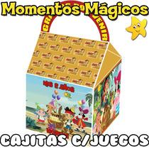 10 Cajitas Jake Y Los Piratas Valijita Golosinera + 7 Juegos