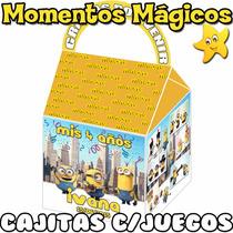 10 Cajitas Souvenirs Bolsita Minions La Pelicula + 7 Juegos