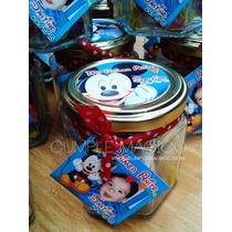 Souvenirs Frascos Golosinero 190cc Mickey Minnie Personaliz