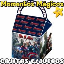 10 Cajitas Souvenirs Los Vengadores Avengers + 7 Juegos