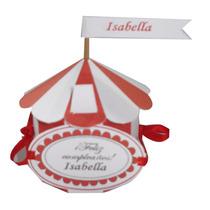 Souvenir Infantil Caja Circo Roja Para Cumpleaños!