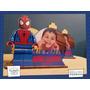 Servilletero Evento Personalizado Madera Heroe Spideman Lego