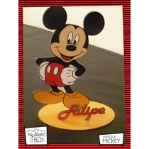 Souvenir Evento Personaliza Madera 10cm Disney Raton Mickey
