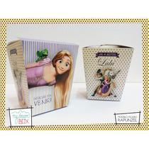 Souvenir Personalizado Cumple Caja Rapunzel Enredados Nenas