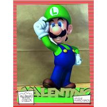 Souvenir Evento Aplique Personalizado Madera 60cm Luigi Bros