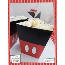 Souvenirs Caja Personalizada Disney Mickey Mouse Pochoclera