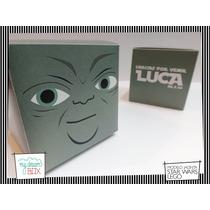 Souvenir Eventos Cumpleaños Caja Lego Star Wars Maestro Yoda