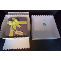 Caja Para Tarta / Torta 28x28x11c/tapa Transpar (pack 4unid)