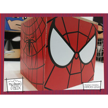 Caja Personalizada Madera 5cm2 Souvenir Lego Spiderman Araña