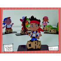 Souvenir Aplique Personaliza Madera 10cm Jake Y Los Piratas