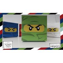Souvenir Evento Personalizado Cumple Caja Lego Ninjago Verde