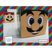 Souvenir Personalizado Eventos Cumple Caja Luigi Mario Bros