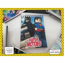 10 Anotadores Personalizados Superman Lego 20 Hojas Souvenir