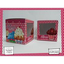 Souvenir Eventos Caja Personalizada Cupcake Muffin Dulces