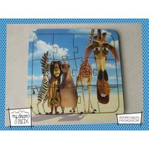 Souvenir Rompecabeza Personalizado Madera 10x10 Madagascar