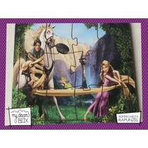 Souvenir Rompecabeza Personalizado Madera 10x10 Rapunzel