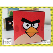 Souvenir Personalizado Evento Cumple Caja Angry Bird Rojo
