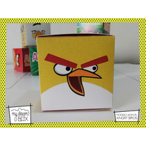 Souvenir Personalizado Evento Cumpl Caja Angry Bird Amarillo