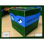 Souvenir Evento Caja Personalizada Tortugas Ninjas Leonardo