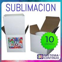 Cajas Sublimables Blancas De Carton X 10 Unidades