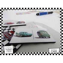 Souvenir Domino Personalizado Madera 6x3cm Cars Rayo Mcqueen
