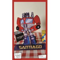 Souvenir Personaliza Madera 40cm Transformers Optimus Prime