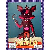 Souvenir Personalizado Madera 30cm Five Nights At Freddys