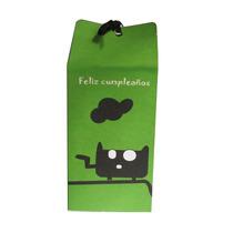 Souvenir Infantil Caja Mascotas Verde Original !