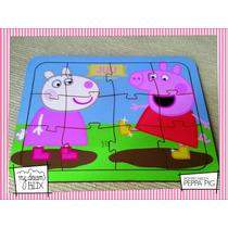 Souvenir Rompecabeza Personalizado Madera 10x10 Peppa Pig