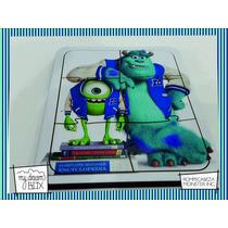 Souvenir Rompecabeza Personalizado Madera 10x10 Monster Inc
