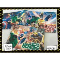 Souvenir Evento Libro Colorear Personaliza Heroe Lego Avenge