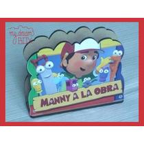 Servilletero Evento Personalizado Madera Manny Obra Disney