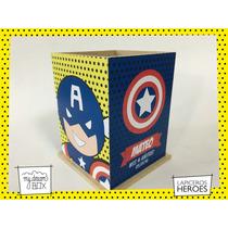 Souvenir Lapicero Madera Personaliza Heroe Capitán America
