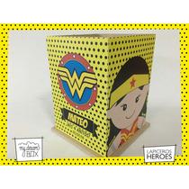 Souvenir Lapicero Madera Personalizado Heroe Mujer Maravilla